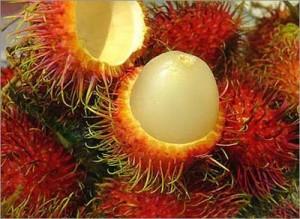 Rambután, fruta exótica rica en vitamina C