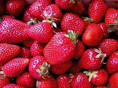 Batido para perder peso de avena y fresas