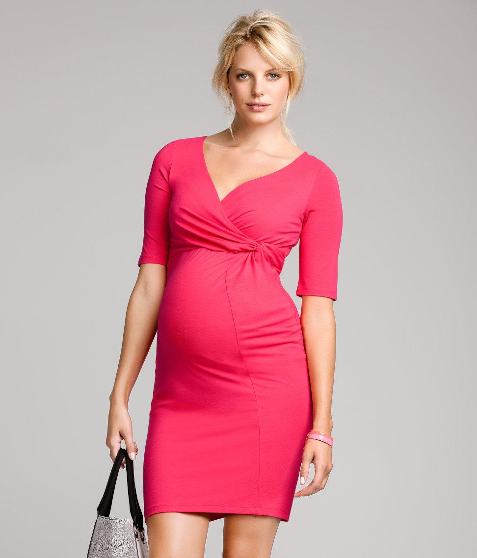 vestido rojo premama hm
