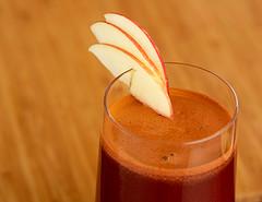 Zumo de naranja, manzana y espirulina