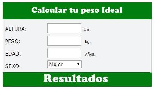 como calcular peso ideal imc