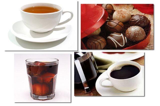 El contenido de cafeina de algunos alimentos