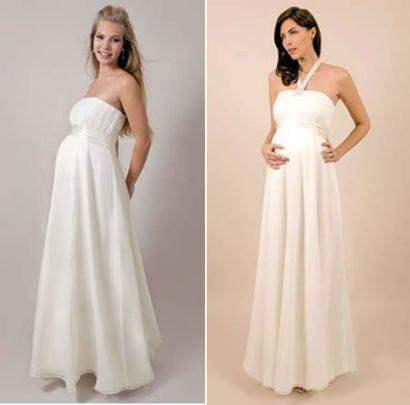 Vestidos de novias embarazadas 2014