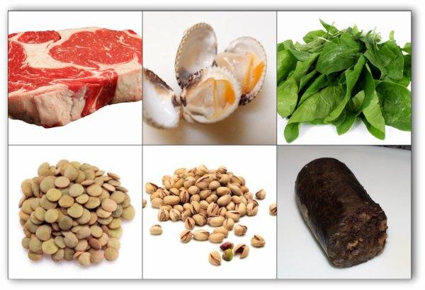 alimentos que contienen hierro buena salud