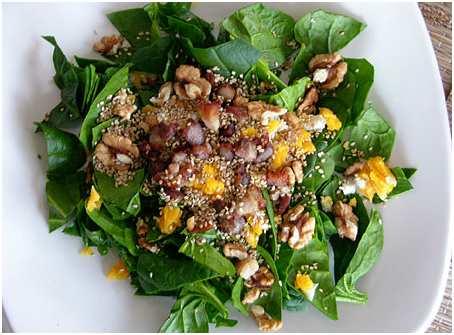 Receta de ensalada de espinacas buena salud for Maneras de cocinar espinacas