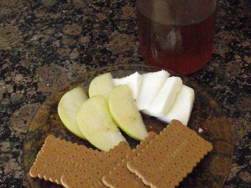 DSCF4731 sobre Sándwich de queso y manzana con miel