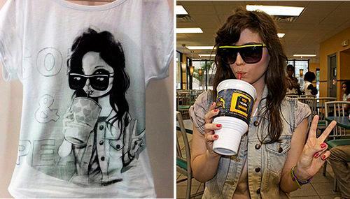 Imagen de las camisetas con blogueras