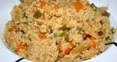 Receta de cous cous con vegetales al wok